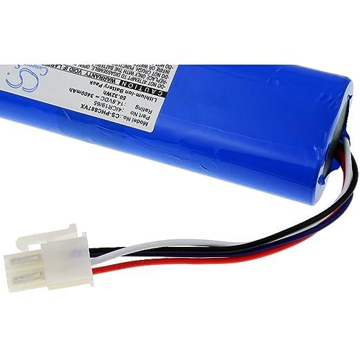 Batería de Alta Capacidad para Robot Aspirador Philips FC8710 / FC8776 / Modelo 4ICR19/65: Amazon.es: Electrónica