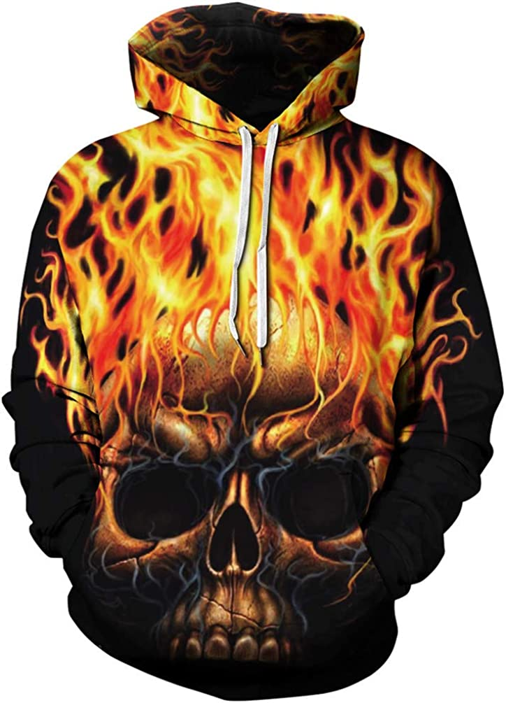 Imbry Unisex Galaxy 3D Printed Hoodies Pullover Sweathirts for Men