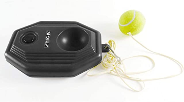 Solomi Pallone da Tennis Pallone da Tennis in plastica per Allenamento Base Posteriore con Set di Corde Elastiche in Gomma per esercitazioni individuali