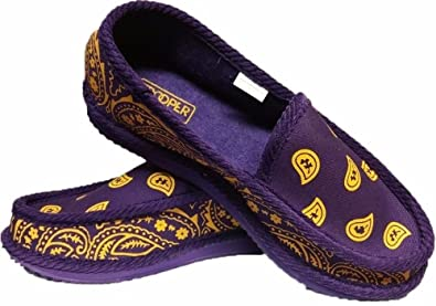 d761ff048 Amazon.com | Purple and Yellow Bandana House Shoes Slippers Trooper ...
