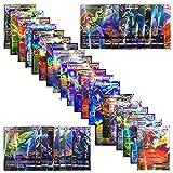 Pokemon 100cards TCG ex gx Trading Card Game,Pokemon Cards Team up Packs, Poke TCG Style Include EX Card/Mega EX Card /GX Card /Energy Card (L)