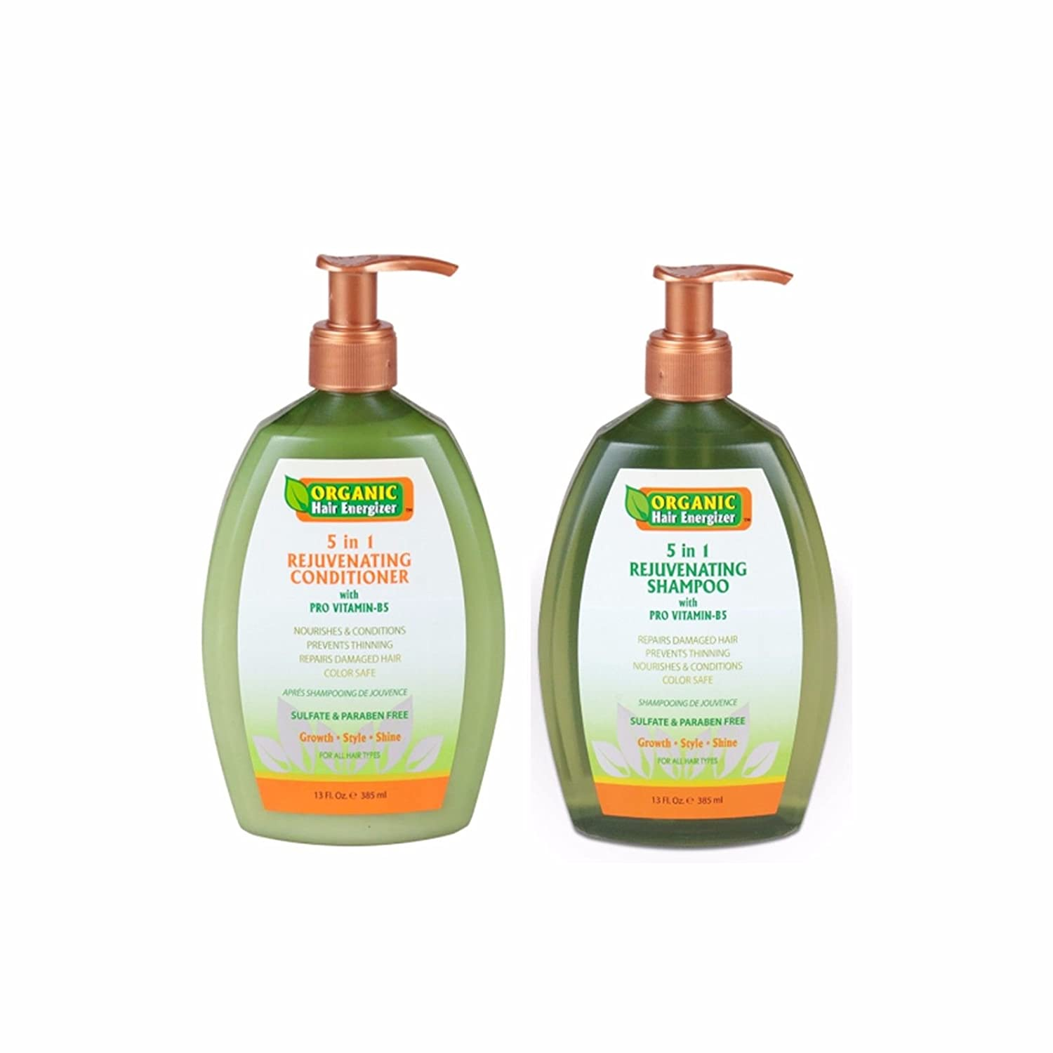 Hair Growth Shampoo & Conditioner - 2 in 1 Set - Stop Loss & Thinning at Root; Essential Oil Vitamin-B5 Sulfate-Free Treatment to Regrow for Male & Female