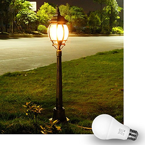 Sensor Lights Bulb Dusk to Dawn LED Light Bulbs Smart Lighting Lamp 7W E26/E27 Automatic On/Off, Indoor/Outdoor Yard Porch Patio Garage Garden (Warm White, 2 Pack) by Vgogfly (Image #5)
