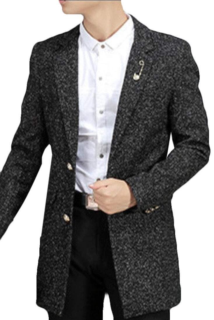 8d17d5c7d7b5ec 2 desolateness Men's Trench Coat Long Slim Fit Business Jacket Jacket  Jacket Overcoat 4c3739