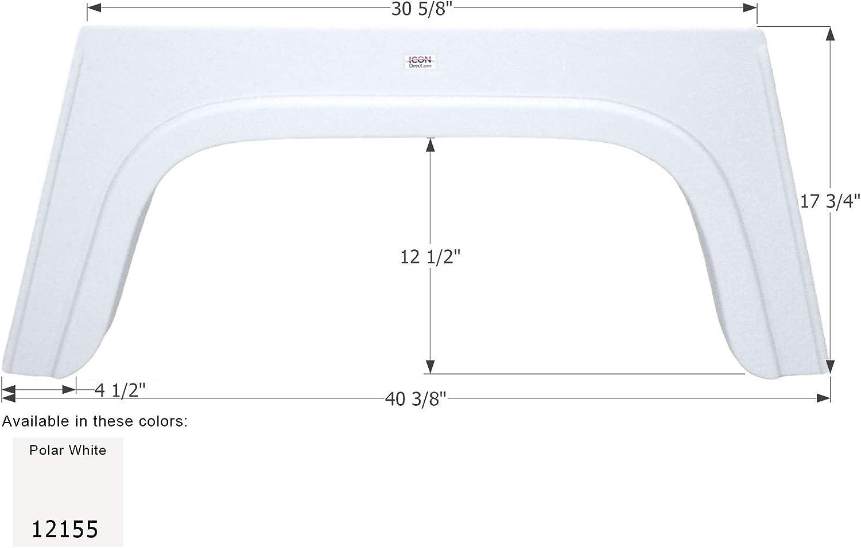 ICON Bonair Single Axle Fender Skirt FS2022 Polar White