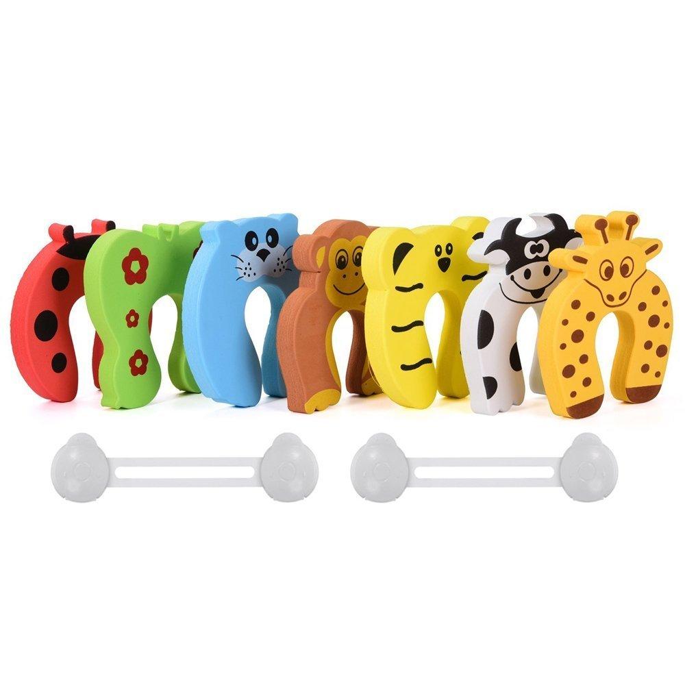 12pcs amortiguadores bloques puerta anti pincement Prot/ège dedo ni/ño beb/é seguridad protecci/ón