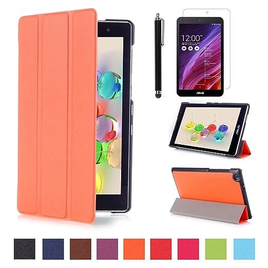 118 opinioni per Custodia per Zenpad C 7.0 Z170C,Arancione Slim Smart Flip Case Cover Protezione