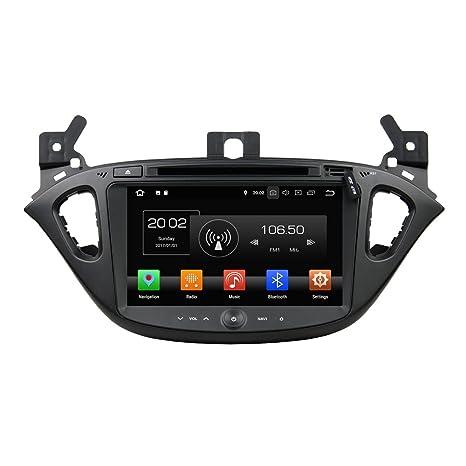 NFS 2din 8 Pulgadas Pantalla Táctil Capacitiva Coche Estéreo con GPS Navegación Android 8.0 OS para Opel ...
