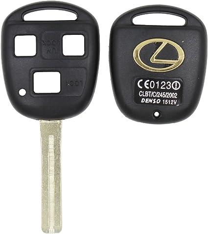 Syncia Tm Fernbedienung 3 Tasten Schlüssel Shell Kurze Klinge 42 Mm Für Lexus Gx470 Rx350 Es300 Rx300 Rx400h Sc Gs Ls Kein Chip Ungeschliffen Blanko Schutzhülle Auto