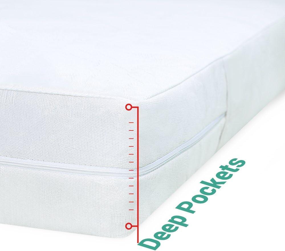 Modern Satin Mattress Cover Total Encasement Anti Bug Bed Protectors Full Zip