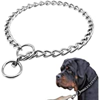 Freezx Dog Choke Collar Slip P Chain - Heavy Chain Dog Titan Training Choke Collars - Adjustable Stainless Steel Chain…