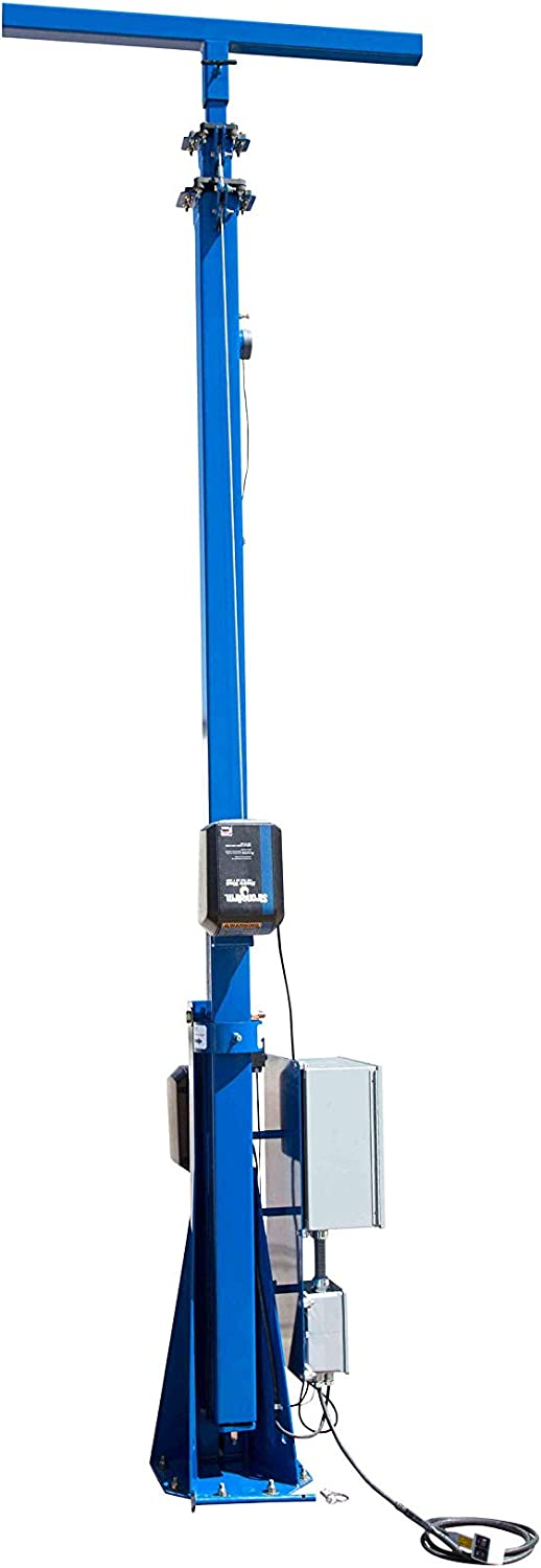30ft Light Mast w//Electric Winch Operation Fold Over Light Boom Low Voltage 3 Stage Tower