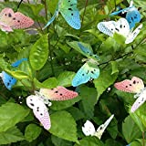 Tubwair Solar String Lights, 12 LED Solar Powered Butterfly Fiber Optic Fairy String Lights for Outdoor Patio Lawn Landscape Garden Home Wedding Holiday decorations