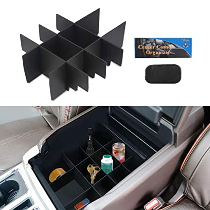 Vanjing Center Console Organizer Insert Compatible For Ford F150 2015 2017 Accessories Organized Console Device Dividers Vehicles With A Car