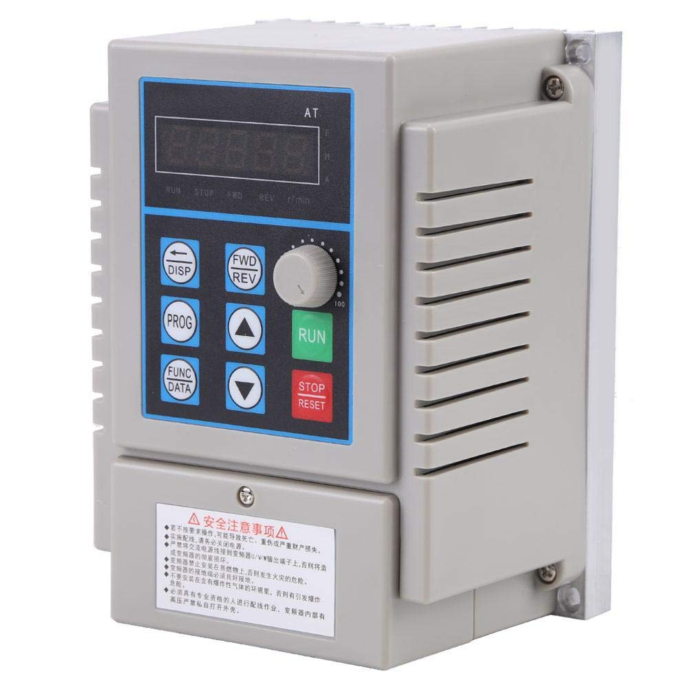 Variable Frequency Drive VFD,220VAC Variable Frequency Drive VFD Speed Controller for Single-Phase 0.45kW AC Motor by Neufday
