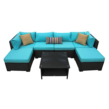 Amazon.com: Juego de 7 piezas de muebles de asiento ...