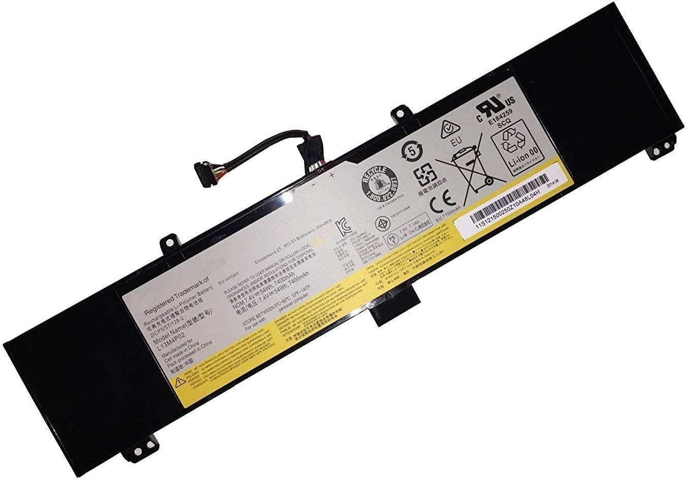 Tandirect New L13M4P02 Replacement Laptop Battery for Lenovo L13N4P01 L13M4P02,L13L4P01 Y50-70AM-IFI(R) Y50p-70-ISE Y50-70AM-IFI Y50-70AM-ISE(D) (7.4V 54Wh 7400MAH)