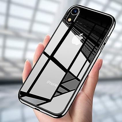 CUSTODIA PER APPLE IPHONE XR Cover Morbida Silicone Tpu Nero