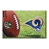 FANMATS 18996 Team Color 19'' x 30'' Los Angeles Rams Scraper Mat (NFL Ball)