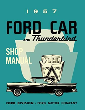 image unavailable  image not available for  color: bishko automotive  literature 1957 ford fairlane t-bird escort shop service repair manual book  engine