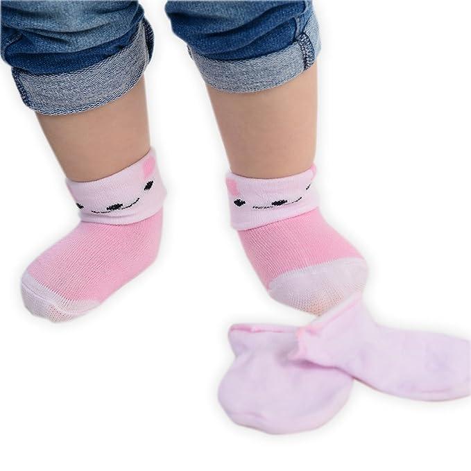 Juego de calcetines y manoplas para recién nacido, varios colores ...