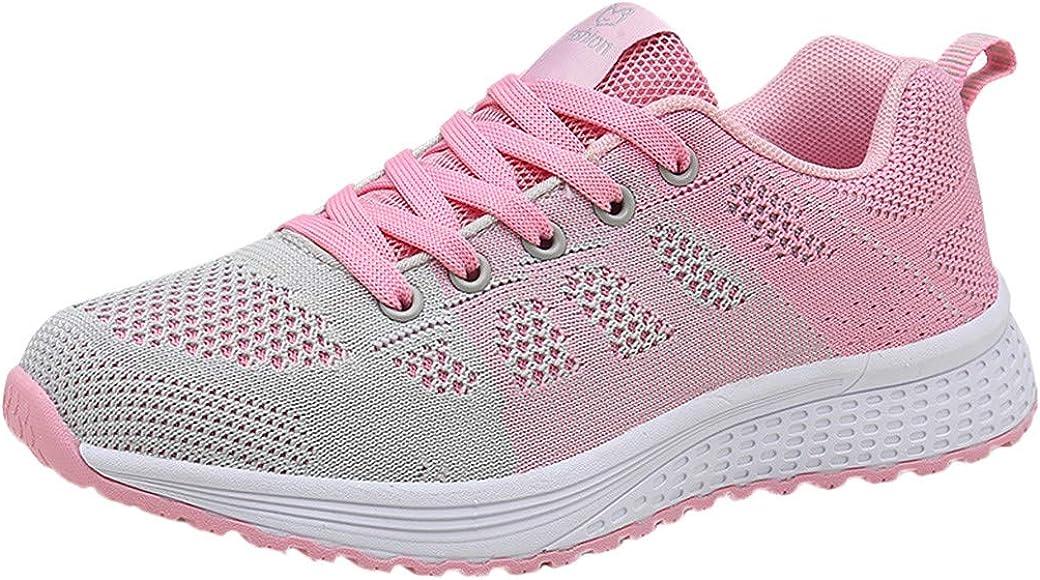 Tefamore Zapatillas de Deportivas para Mujer, Exterior Zapatos Sneakers Zapatillas Mujer Running Casual Yoga Calzado Deportivo de Respirable Parte Inferior Blanda: Amazon.es: Zapatos y complementos