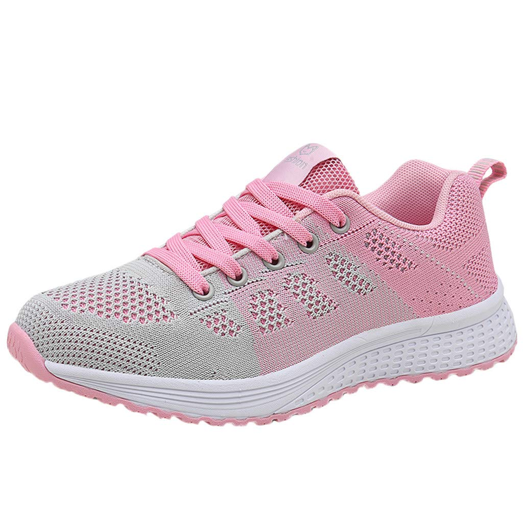 refulgence Womens Outdoor Mesh Gym Shoes Tennis Athletic Running Shoes Sneakers (US:5,Pink)