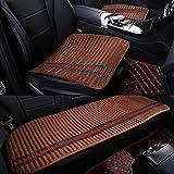MIAO Car Seat Cushions Cover,Five-Seats Car Universal Breathable Non-Slip Cushion Car Accessories Including Front Cushion 2 + Rear Cushion 1 , caffeine