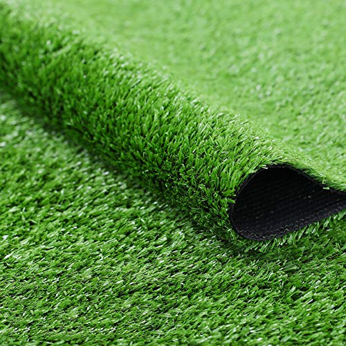 Artificial Grass Turf,Artificial Lawn 4 Tone Synthetic Grass Patch Mat with Drainage Holes Lush & Hard Pet Turf Astroturf Rug for Indoor Outdoor-Green 200x1600cm(79x630inch) ()