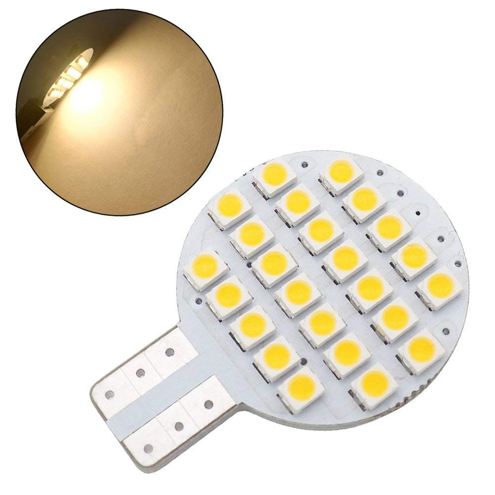 20x Grv T10 LED Light Bulb 921 194 192 C921 24-3528 SMD Super Bright Lamp DC 12V 2 Watt for Car RV Boat Ceiling Dome Interior Lights Warm White (2nd Generation) by GRV (Image #5)