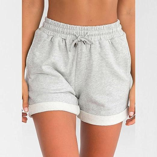 ... Mujeres Pantalones Cortos Flojos Ocasionales Pantalones Cortos de la Cintura Alta de la Muchacha de la Playa High Waist Short Trousers: Amazon.es: Ropa ...