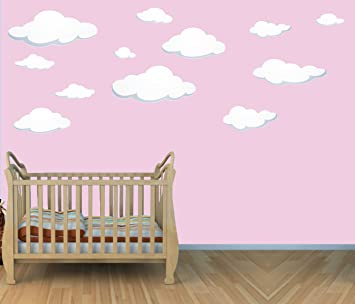 Amazoncom  Large Cloud Wall Decals Cloud Wall Stickers For - Nursery wall decals clouds