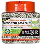 Black Ops .15 g Biodegradable Airsoft BBS - 10,000 Triple Polished Competition Grade 6mm BBS - Resealable - for All Airsoft Guns Pistols Rifles AEGs