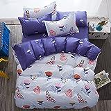 4pcs New Bedding Sheet Set Duvet Cover Pillow Cases Twin Full Queen Size (Queen, Butterfly Dance)