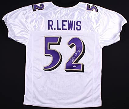 81dc8d1d Ray Lewis Autographed Signed Ravens Jersey - PSA/DNA Certified at ...