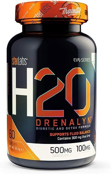 Starlabs nutrition h2o drenalyn, potente diurético - 60 capsulas: Amazon.es: Alimentación y bebidas