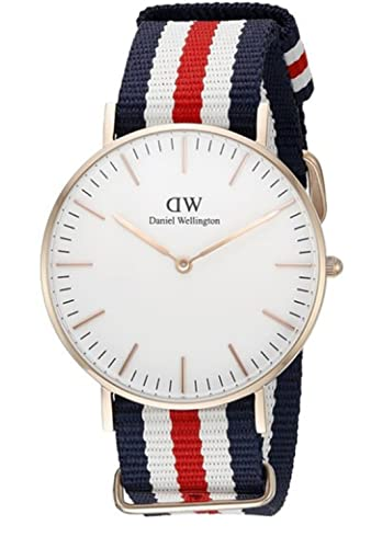 Reloj Daniel Wellington Mujer 0502DW Classic Canterbury color oro rosa 36 mm: Amazon.es: Relojes