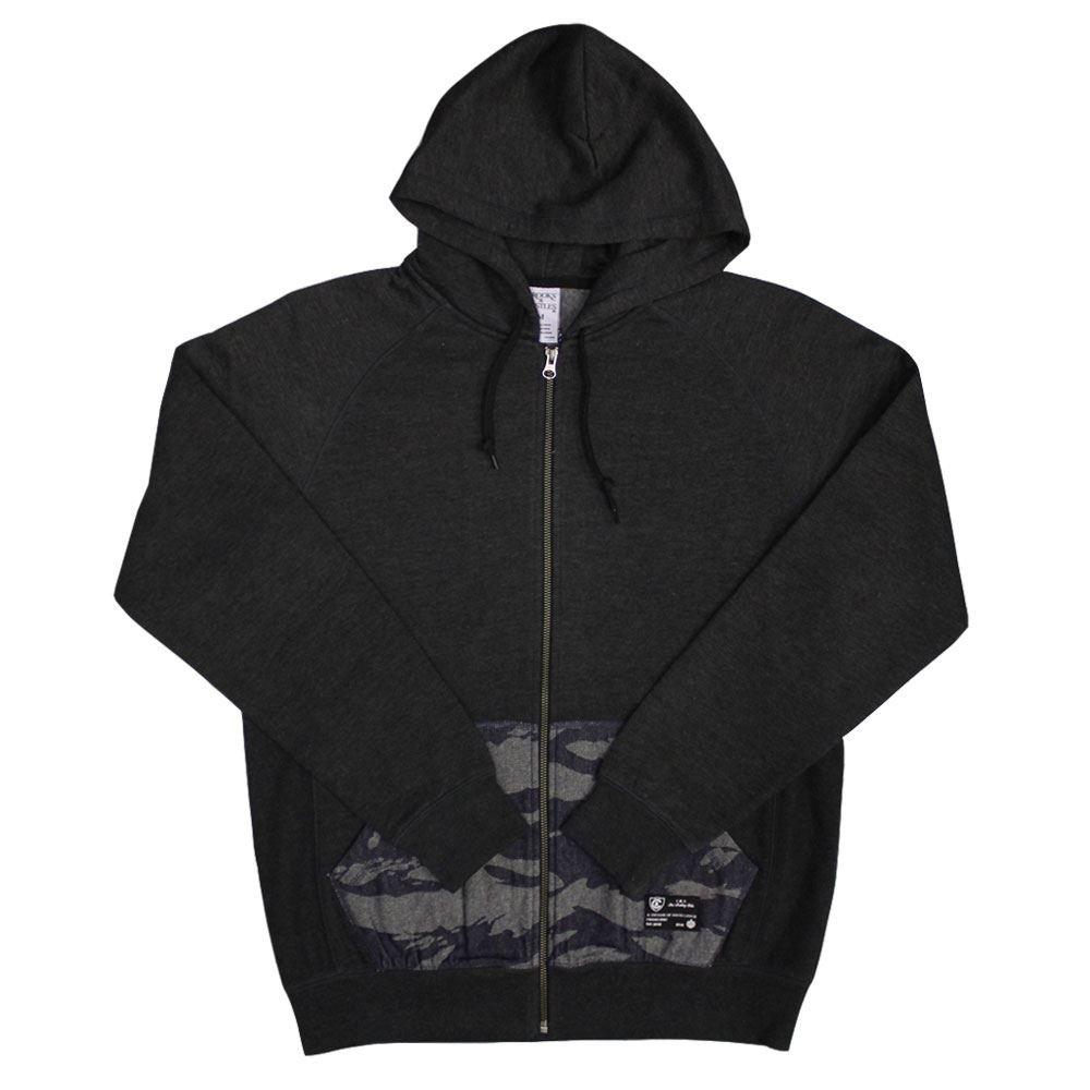 Crooks & Castles Knit Zip Hoodie Tiger Denim Black