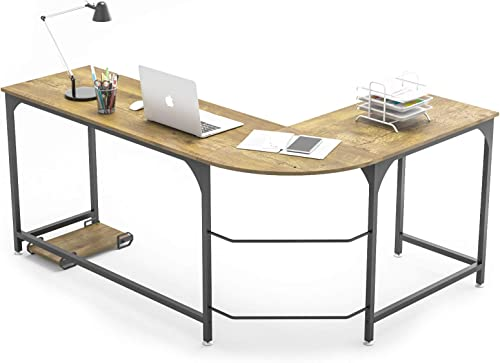 WeeHom Reversible L Shaped Desk Corner Computer Desks for Home Office 66 Inch Large PC Laptop Gaming Table