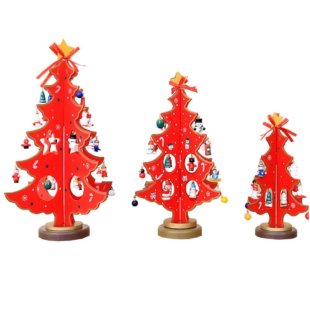 Decorazioni per Alberi di Natale,Albero di Natale in Legno a Due stratiDecorazione del Tavolo da Finestra,Artigianato Articoli Natalizi