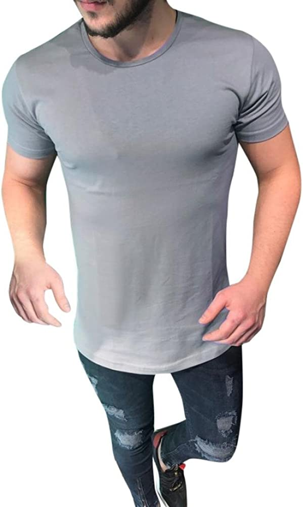 FAMILIZO Camisetas Manga Corta Hombre Moda Camisetas Hombre Tallas Grandes Camisetas Hombre Sport Camisetas Hombre Algodón Camisetas Hombre Verano Camisetas Hombre Largas Tops (S, Gris): Amazon.es: Ropa y accesorios