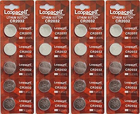 5 Loopacell CR2016 Lithium Battery 3V Button Cell for Digital Scales Calculators
