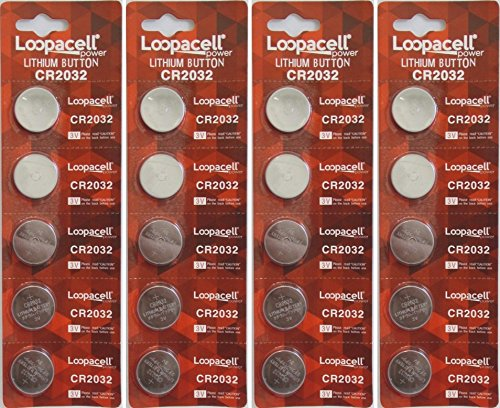 Price comparison product image 20 Genuine Loopacell CR2032 3v Lithium 2032 Coin Batteries Freshly Packed by Loopacell