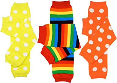 Brand New Newborn Infant Tights BabyLegs Baby Leg Warmers Rainbow Brite Stripes
