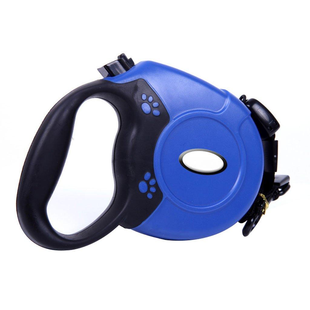 bluee GWM Leashes Retractable Pet Leash, Dog Leash, Leash, Large, Medium, Hyena (color   bluee)