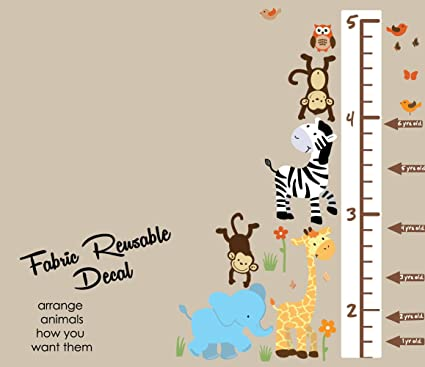 Amazon Safari Happy Jungle Growth Chart Wall Decals Jungle
