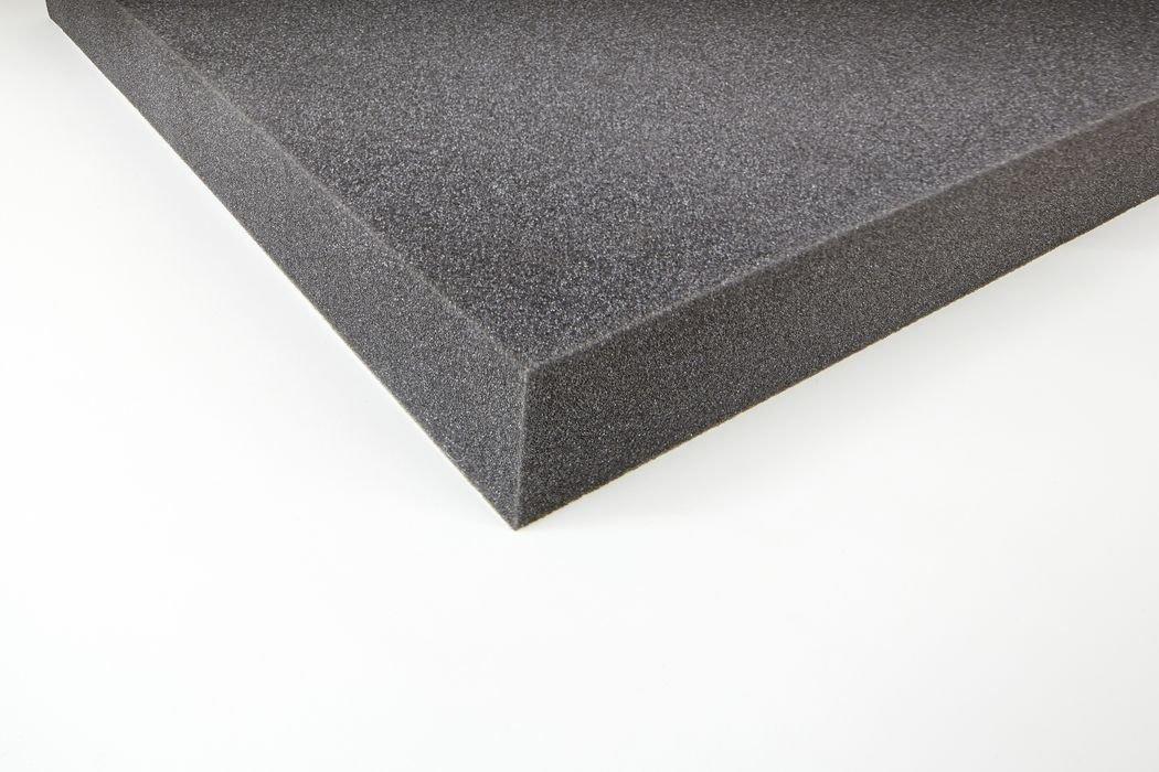 Akustikschaumstoff - PUR - Anthrazit 100 x 50 x 3 cm 0,5m2 Eurokustik