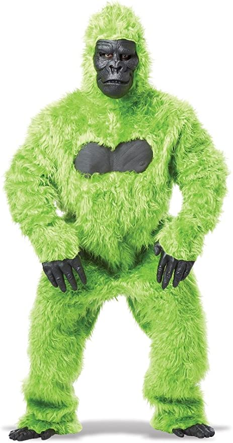 PROFESSIONAL APE MASK W TEETH  monkey costume mascot gorilla dressup adult new