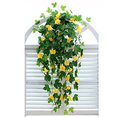 Hanging Basket On Fence: Artificial Hanging Baskets With Flowers: Amazon.com