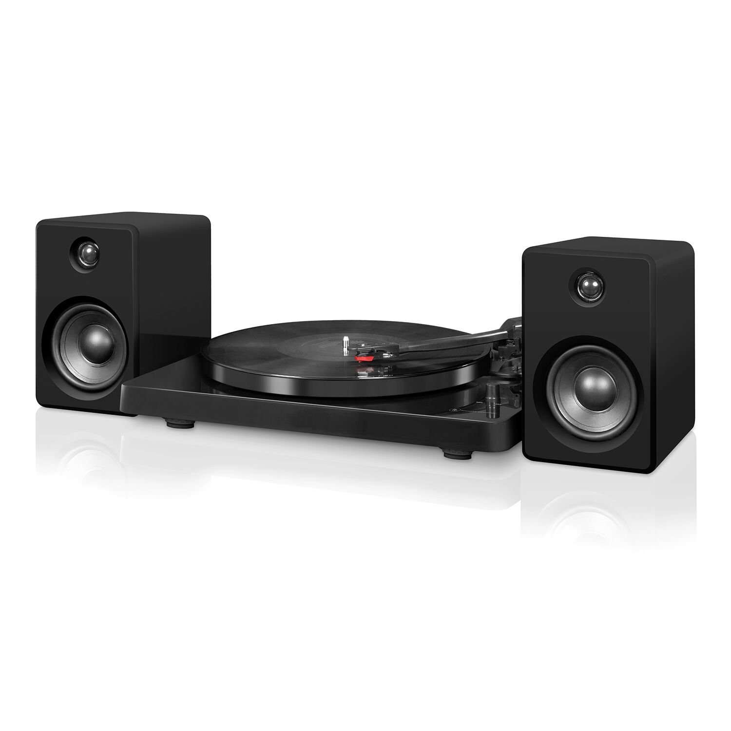 Victrola Modern 3-Speed Bluetooth Turntable with 50 Watt Speakers, Black Piano Finish by Victrola (Image #1)